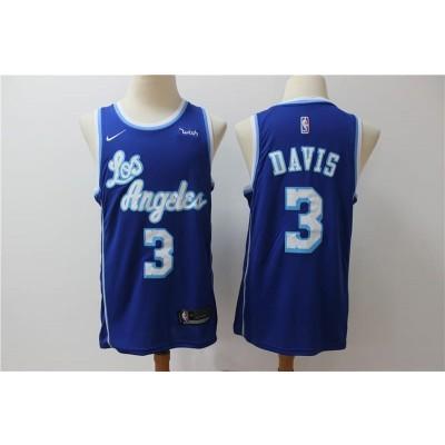 NBA Lakers 3 Anthony Davis Blue Nike Men Jersey