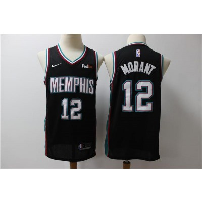 NBA Grizzlies 12 Ja Morant Black Nike Men Jersey