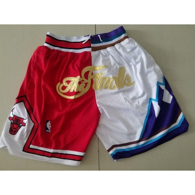 NBA Bulls Gold White Split Just don Shorts