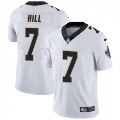 Nike Saints 7 Taysom Hill White Vapor Untouchable Limited Men Jersey