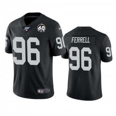 Nike Oakland Raiders 96 Clelin Ferrell Black 60th Anniversary Vapor Limited Men Jersey