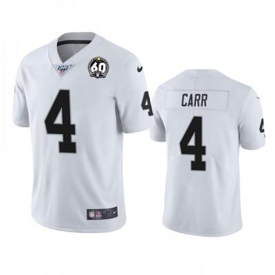 Oakland Raiderss 4 Derek Carr White 60th Anniversary Vapor Untouchable Limited Men Jersey