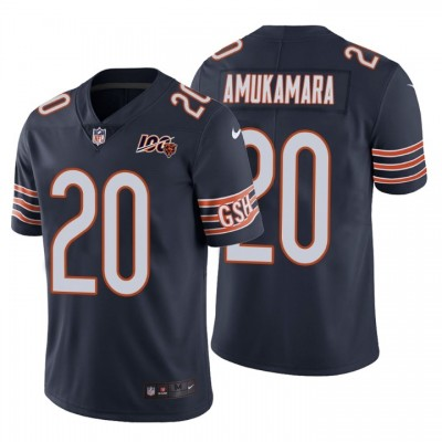 Chicago Bears 20 Prince Amukamara 100th Anniversary Vapor Untouchable Limited Navy Men Jersey