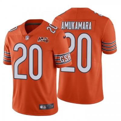 Chicago Bears 20 Prince Amukamara 100th Anniversary Vapor Untouchable Limited Orange Men Jersey