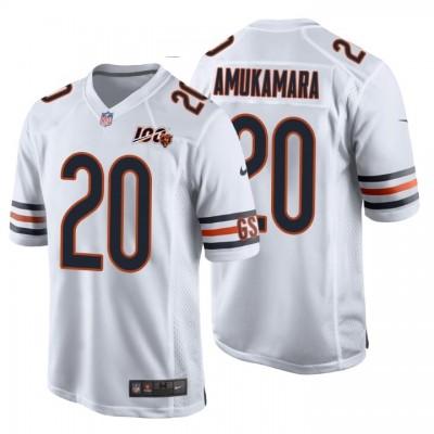 Chicago Bears 20 Prince Amukamara White 100th Anniversary Game Men Jersey