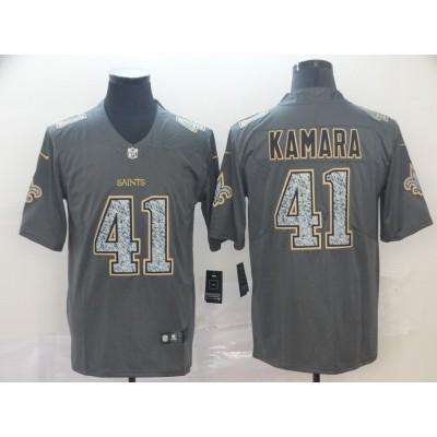 Nike Saints 41 Alvin Kamara Gray Static Vapor Untouchable Limited Men Jersey