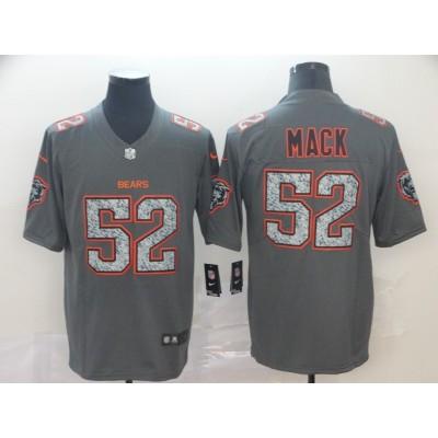 Nike Bears 52 Khalil Mack Gray Static Vapor Untouchable Limited Men Jersey