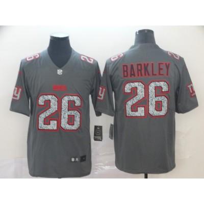 Nike Giants 26 Saquon Barkley Gray Static Vapor Untouchable Limited Men Jersey