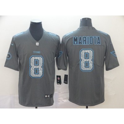 Nike Titans 8 Marcus Mariota Gray Static Vapor Untouchable Limited Men Jersey