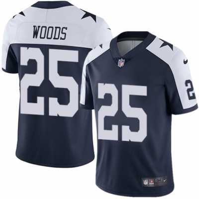Nike Cowboys 25 Xavier Woods Throwback Navy Vapor Untouchable Limited Men Jersey