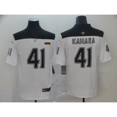 NFL Saints 41 Alvin Kamara City Edition White Jersey