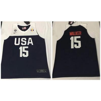 2019 World Cup USA 15 Walker blue Jersey