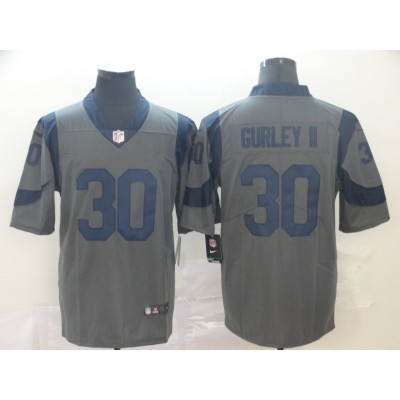 Nike Rams 30 Todd Gurley II Gray Inverted Legend Limited Jersey