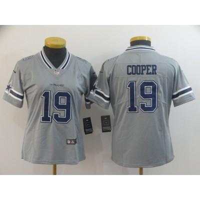 Nike Cowboys 19 Amari Cooper Grey Inverted Legend Women Jersey