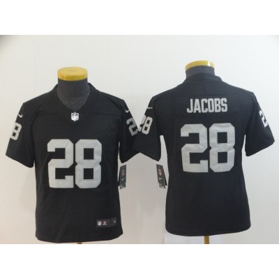 Nike Raiders 28 Josh Jacobs Black Youth Vapor Untouchable Limited Jersey
