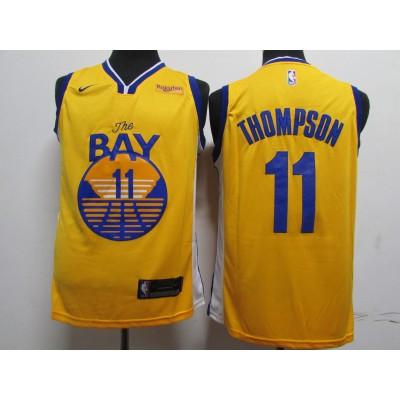 NBA Warriors 11 Klay Thompson Blue 2020 New Nike Men Jersey