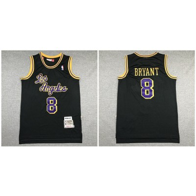 NBA Lakers 8 Kobe Bryant Black 1996-97 Hardwood Classics Men Jersey