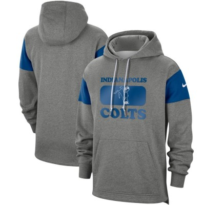 Men's Indianapolis Colts 2019 Grey Fan Gear Historic Pullover Hoodie