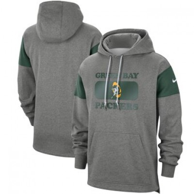 Men's Green Bay Packers 2019 Grey Fan Gear Historic Pullover Hoodie