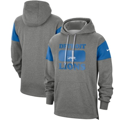 Men's Detroit Lions 2019 Grey Fan Gear Historic Pullover Hoodie