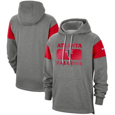Men's Atlanta Falcons 2019 Grey Fan Gear Historic Pullover Hoodie