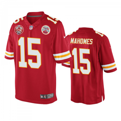 Nike Chiefs 15 Patrick Mahomes Red Vapor Untouchable 60 Season Patch Men Jersey