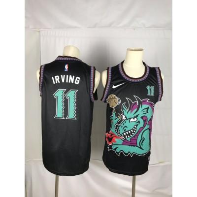 NBA Nets 11 Kyrie Irving Green Black Dragon Men Jersey