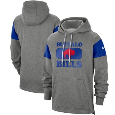 Men's Buffalo Bills 2019 Grey Fan Gear Historic Pullover Hoodie