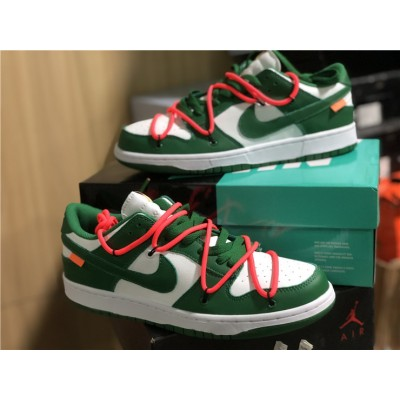 OFF-WHITE x Nike Dunk Low Green White Shoes