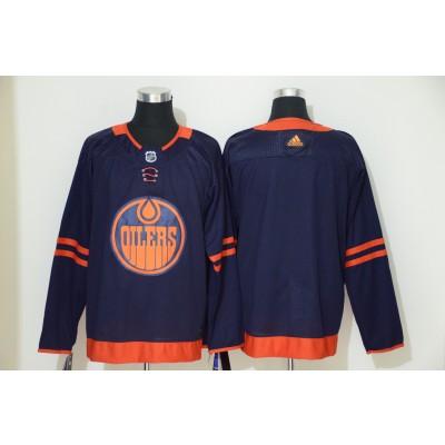 NHL Oilers Blank Navy 50th anniversary Adidas Men Jersey