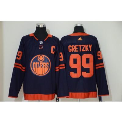 NHL Oilers 99 Wayne Gretzky Navy 50th anniversary Adidas Men Jersey