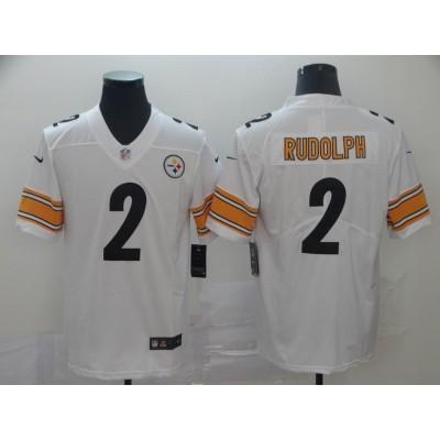 NFL Steelers 2 Mason Rudolph White Vapor Untouchable Limited Men Jersey