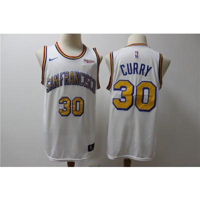 NBA Warriors 30 Stephen Curry White Nike Men Jersey