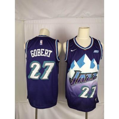 NBA Jazz 27 Rudy Gobert Purple Nike Men Jersey