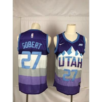 NBA Jazz 27 Rudy Gobert Purple City Edition Nike Men Jersey