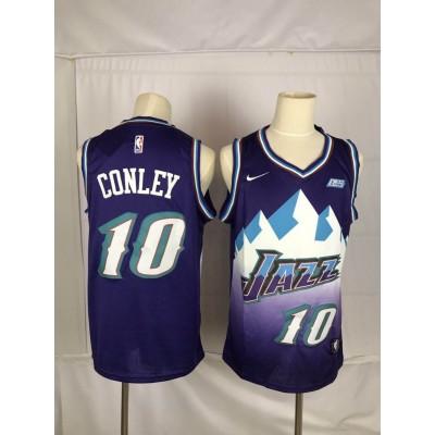 NBA Jazz 10 Mike Conley Purple Nike Men Jersey