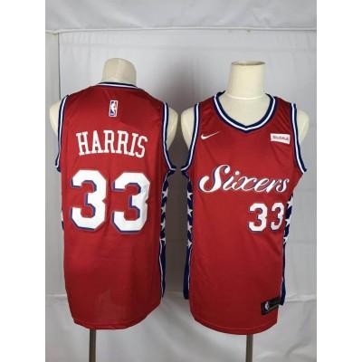 NBA 76ers 33 Tobias Harris Red Nike Throwback Men Jersey