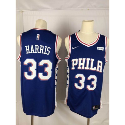 NBA 76ers 33 Tobias Harris Blue Nike Throwback Men Jersey
