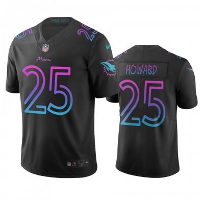 NFL Dolphins 25 Xavien Howard Black City Edition Vapor Limited Men Jersey