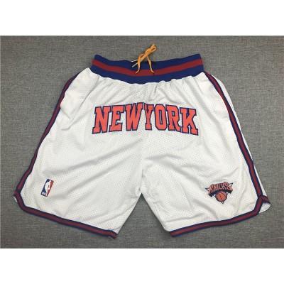 NBA Knicks White Just Don Mesh Shorts
