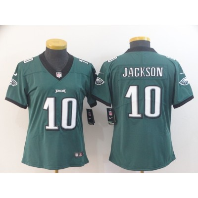 Nike Eagles 10 DeSean Jackson Green Vapor Untouchable Limited Women Jersey