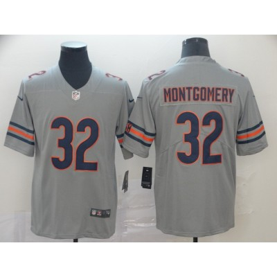 Nike Bears 32 David Montgomery Inverted Legend Limited Men Jersey