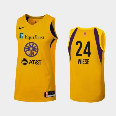 WNBA Los Angeles Sparks Sydney Wiese Yellow 2019 Primary Icon Jersey