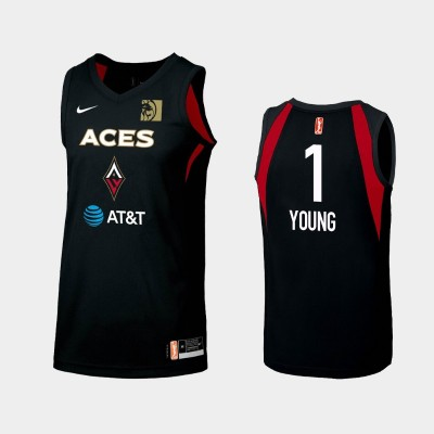 WNBA Las Vegas Aces Tamera Young Black 2019 Primary Icon Jersey