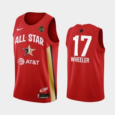WNBA Indiana Fever Erica Wheeler Red 2019 All-Star Game Jersey