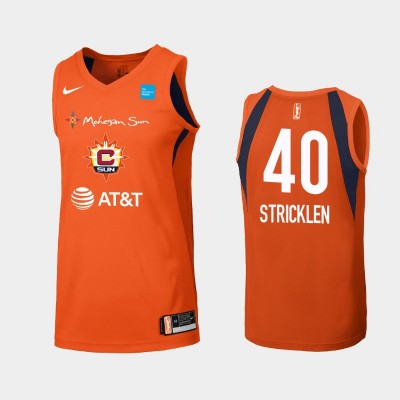 WNBA Connecticut Sun Shekinna Stricklen Orange Primary Icon Jersey