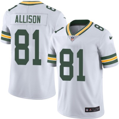 Nike Packers 81 Geronimo Allison White Vapor Untouchable Limited Men Jersey