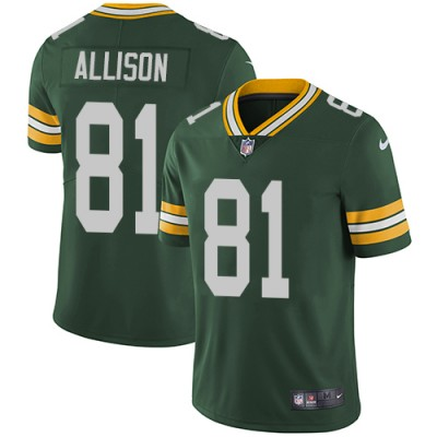 Nike Packers 81 Geronimo Allison Green Vapor Untouchable Limited Men Jersey