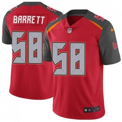 Nike Buccaneers 58 Shaquil Barrett Red 100th Season Vapor Untouchable Limited Men Jersey