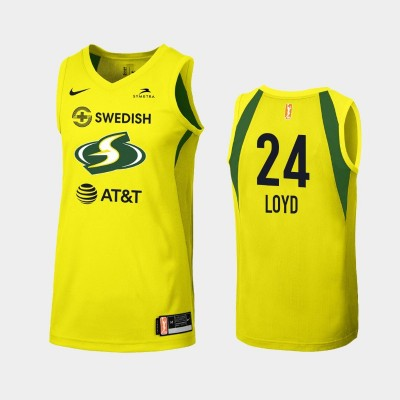 WNBA Seattle Storm Jewell Loyd Yellow 2019 Primary Icon Jersey